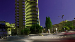 BUCHAREST, ROMANIA - JULY, 2015: Rush Hour In University Square, Zoom Out stock footage