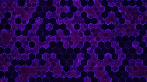 Scrolling Hexagon Background Animation - Loop Purple Animation