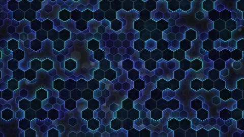 Scrolling Hexagon Background Animation - Loop Blue Animation