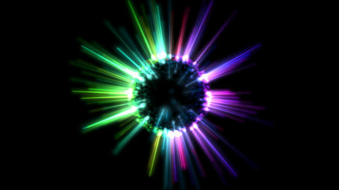 Abstract Rotating Shining Sphere Animation - Loop Rainbow Animation
