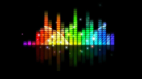 Music Background Graphic Equaliser Motion Visual Effect Footage
