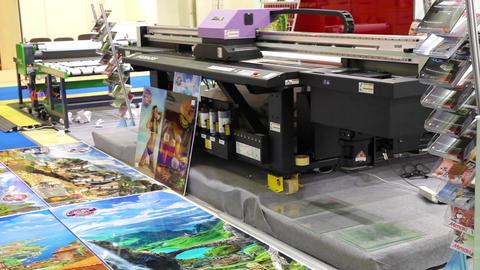 Printing laboratory with working ink printer Footage