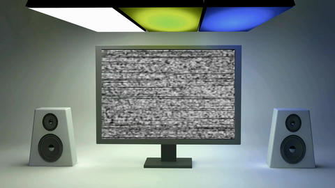 fragmentation of screen and speakers sound Plantilla de After Effects