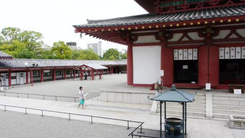 Temple Shitennoji Osaka Japan 07 stock footage
