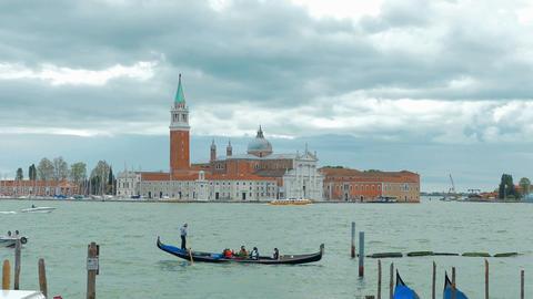 Venice - Gondolier ride, San Giorgio Maggiore island Footage