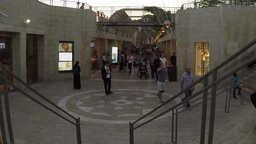 Mamila Mall, Jerusalem; Pedestrians Walking stock footage