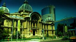 Bucharest, Romania July 2015,CEC Palace,Static Shot stock footage