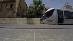 City train Jerusalem passing by Footage