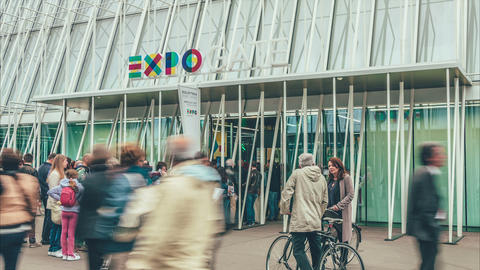 Milano EXPO Gate 2015 stock footage