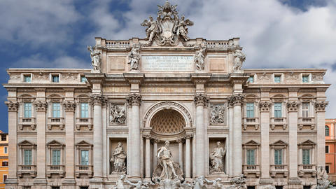 Trevi Fountain Rome Italy Footage