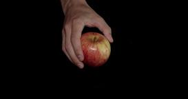 Apple has put on the black table Footage