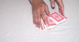 Fail sleight card tricks on table Footage
