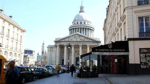 The Panthéon in Paris Stock Video Footage