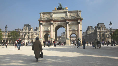 Arc de Triomphe du Carrousel Stock Video Footage