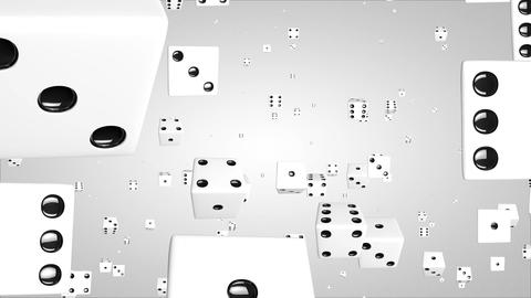 3D dice particles Stock Video Footage
