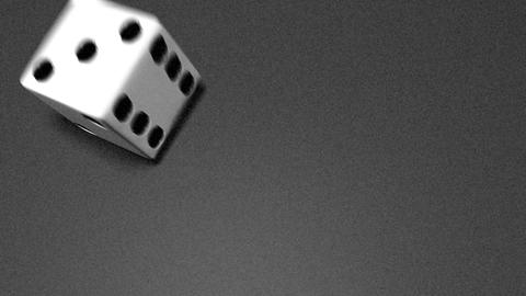 3D dice roll 02 Stock Video Footage