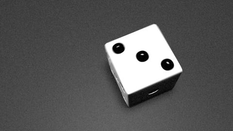 3D dice roll 02 Animation