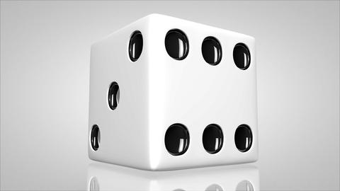 3D dice turn around 01 Animation