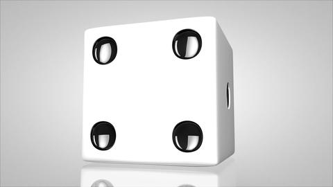 3D dice turn around 01 Stock Video Footage