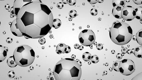 3D football particles 01 Stock Video Footage