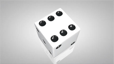 3D dice turn around 03 Stock Video Footage
