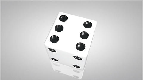 3D dice turn around 03 Animation