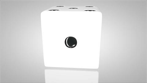 3D dice turnaround 02 Stock Video Footage