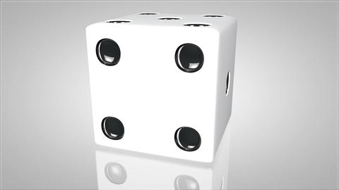 3D dice turnaround 02 Stock Video Footage