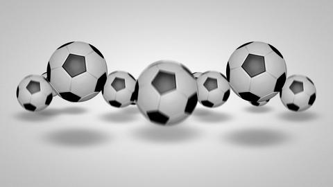 3D football bounce 03 Animation