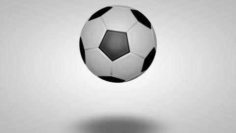 3D football bounce 06 Animation