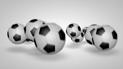 3D football bounce 04 Animation