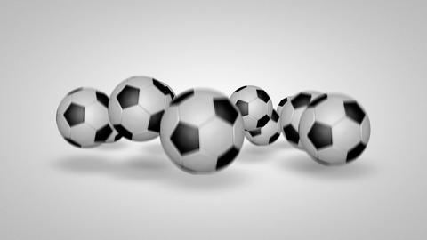 3D football bounce 04 Stock Video Footage