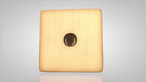 3D wood dice turn around 01 Stock Video Footage