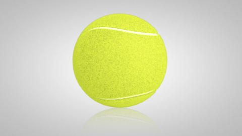 3D tennis ball turn around 01 Stock Video Footage