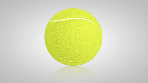3D tennis ball turn around 01 Stock Video Footage
