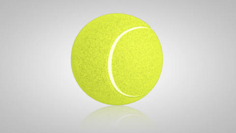 3D tennis ball turn around 01 Animation