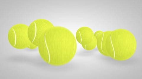 3D tennis ball bounce 04 Stock Video Footage