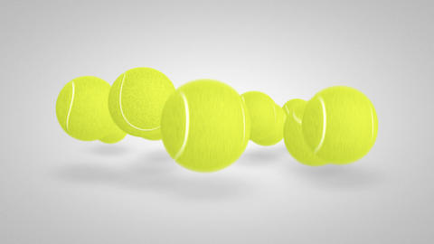 3D tennis ball bounce 04 Animation