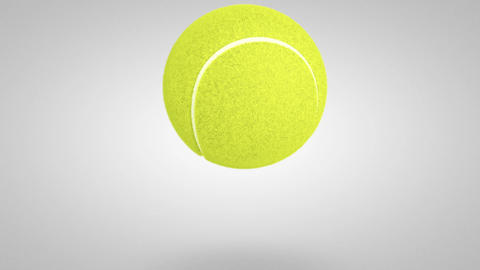 3D tennis ball bounce 02 Stock Video Footage