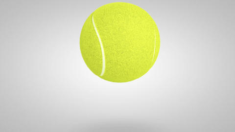 3D tennis ball bounce 02 Animation