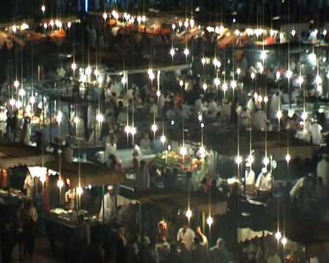 night at jama el fna realtime Stock Video Footage