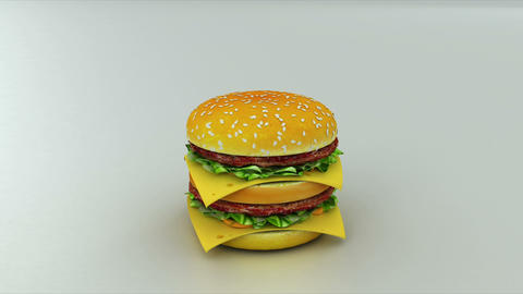 burger bad Stock Video Footage