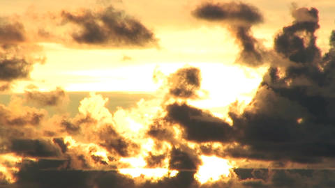 SunsetCloudsTook01 Stock Video Footage