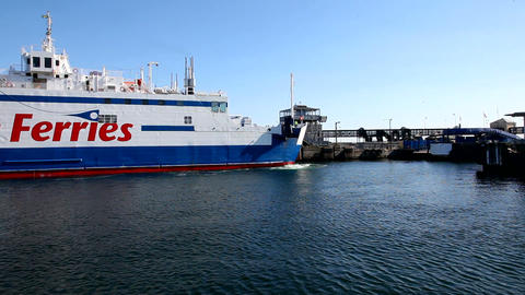 Ferry between Denmark and Sweden Stock Video Footage