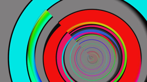 Color rings on a gray background Stock Video Footage