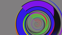 Color rings on a gray background Animation