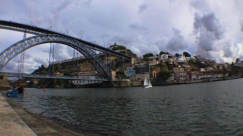 Dom Luis I bridge time lapse Stock Video Footage