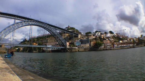 Dom Luis I bridge time lapse Footage