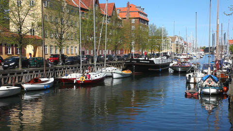 Canal tour in Copenhagen Stock Video Footage