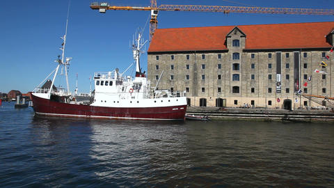 Copenhagen Harbour Stock Video Footage